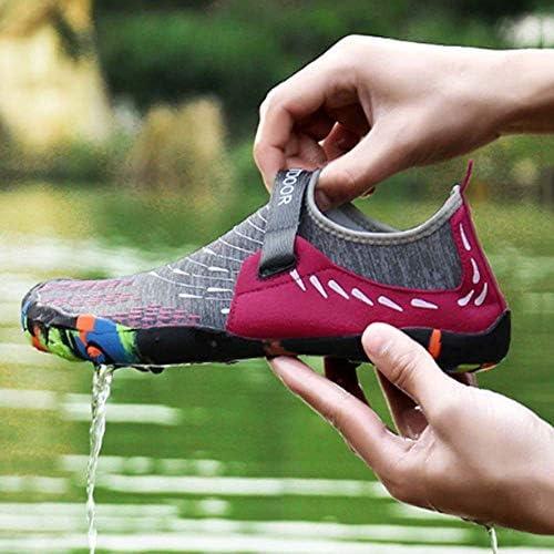 軽量スポーツシューズビーチシューズ女性と男性のマジックテープハイキングワタリシューズ リバーシューズメッシュ表面四方弾性摩耗夏速乾性の靴 ポータブル (色 : Red, Size : US6.5)