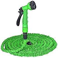 Shreeji Ethnic Expandable Magic Flexible Water Hose 30 Ft / 10 M EU Hose Plastic Hoses Pipe with Spray Gun to Watering Washing Cars(50ft&15m)