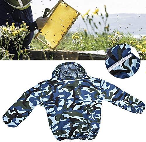 Acogedor 防護服、蜂用防護服 、保護ベールと帽子付き、養蜂用の防護服、良く通気性、害虫駆除、蚊虫対策(ネイビー)