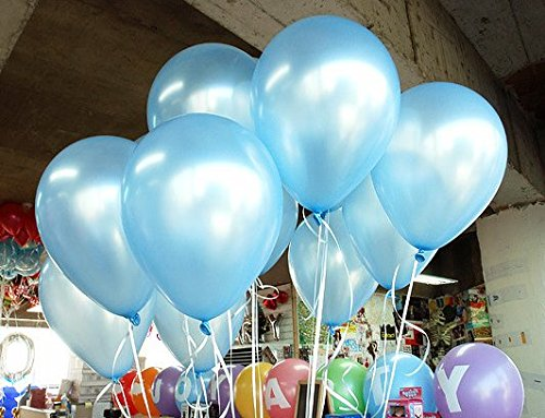100 light blue balloons - 1