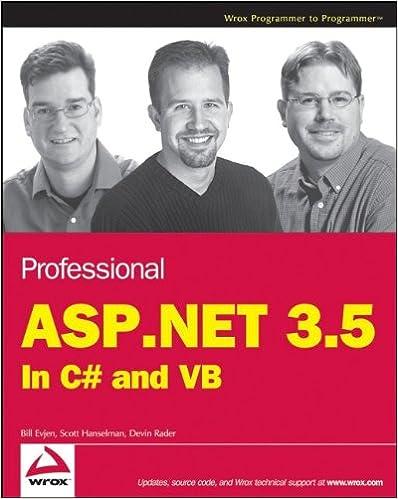 Professional ASPNET 35 In C And VB Bill Evjen Scott Hanselman Devin Rader 9780470187579 Amazon Books
