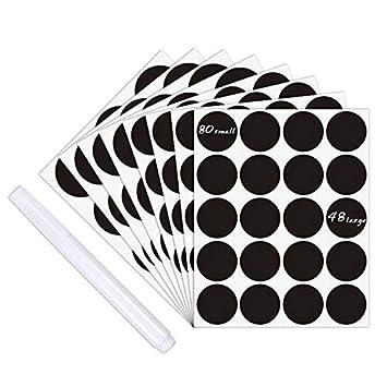 Tafel-Aufkleber-Aufkleber - 128 wiederverwendbare runde Küche ...