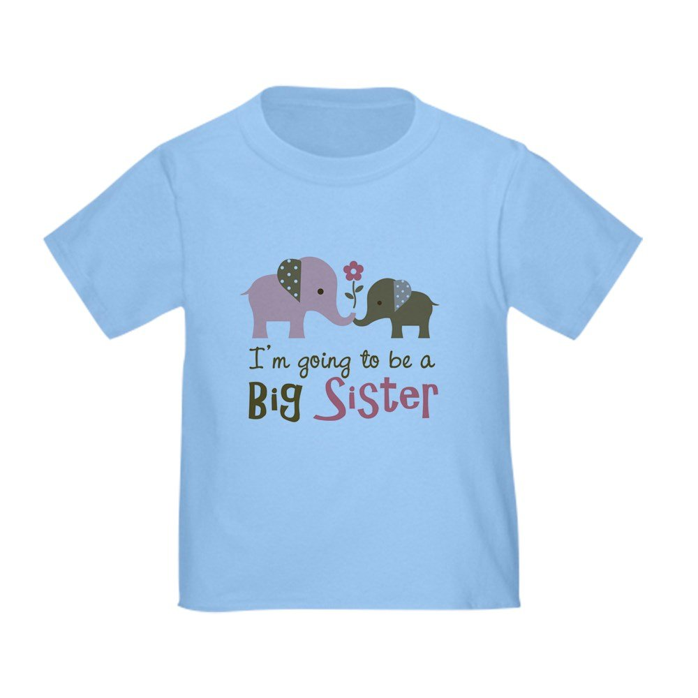 CafePress - Big Sister To Be - Mod Elephant - Cute Toddler T-Shirt, 100% Cotton