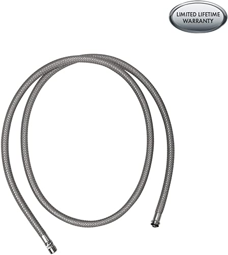 hansgrohe Authentic Replacement Hose for Pull-Down Kitchen Faucet in Stainless Steel, 88624000