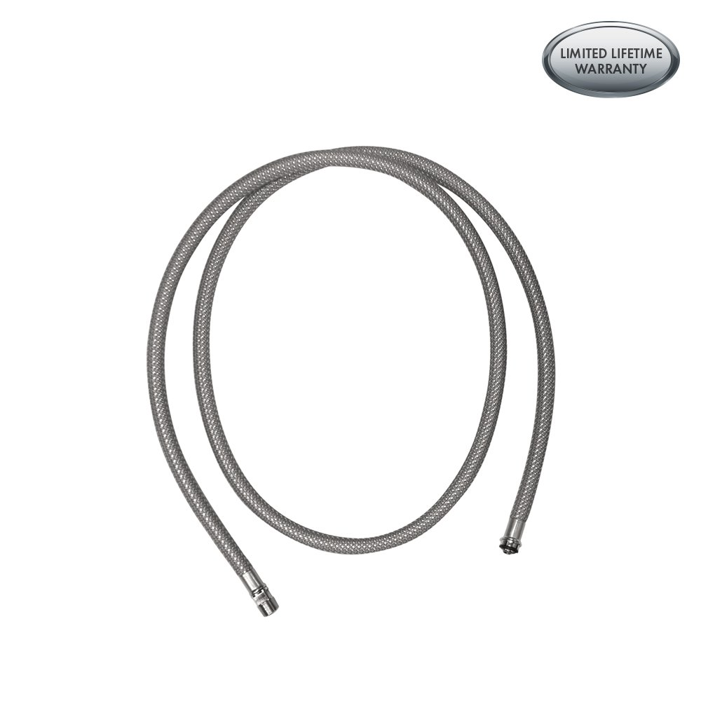 hansgrohe 88624000 pull down kitchen faucet hose chrome faucet rh amazon com hansgrohe kitchen faucet hose replacement video