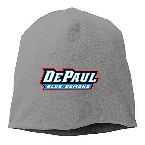 Caryonom Adult DePaul University Blue Demons Beanies Skull Ski Cap Hat DeepHeather (Skully And Green Demon)