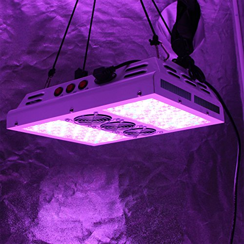 51ZNACdnCGL - VIPARSPECTRA PAR600 600W 12-band LED Grow Light - 3-Switches Full Spectrum for Indoor Plants Veg and Flower