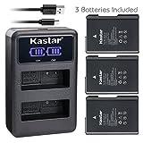 Kastar Battery 3 Pack and LCD Dual Charger for Nikon EN-EL14 EN-EL14a MH-24, Nikon Coolpix P7000 Coolpix P7100 Coolpix P7700 Coolpix P7800 Nikon D3100 D3200 D3300 D3400 D5100 D5300 D5500 D5600 Df DSLR