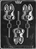 Cybrtrayd Life of the Party E409 Cute Bunny Lolly Easter Chocolate Candy Mold in Sealed Protective Poly Bag Imprinted with Copyrighted Cybrtrayd Molding Instructions