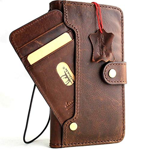 Genuine Leather for Galaxy S10 Plus Book Case Wallet Luxury Cover Wireless Charging Handmade Soft Holder 10 Credit Card Slots