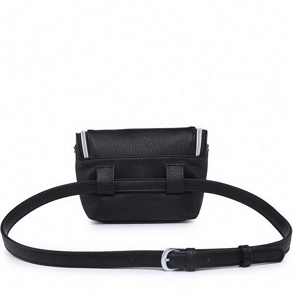 Classic Leather Waist Fashion Women Shoulder Vintage Mini Simple Casual Belt Bag White