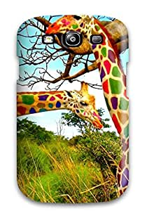 2870699K10876285 New Style Tpu S3 Protective Case Cover/ Galaxy Case - Funny Giraffe
