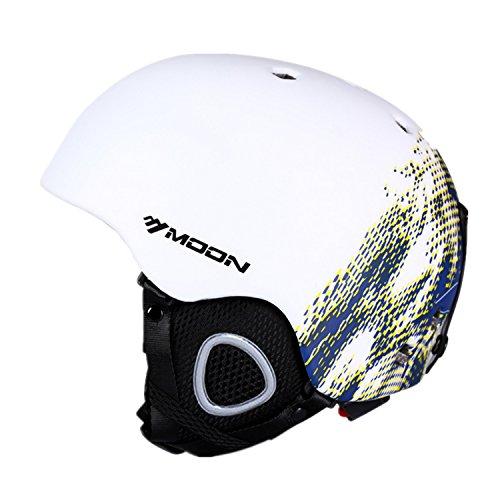 Helmet White Cotton (SUNVP Snowboard Helmets Integrally Adult Snow Sports Helmet (White/blue, M))
