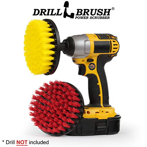 - Deck Brush - Pool Brush - Grout Cleaner - Drill Brush - Spin Brush Two Piece Kit - Grout Cleaner - Concrete Bird Bath, Benches, Statuary - Hard Water, Calcium, Mineral Deposits, Soap Scum, Rust Stains