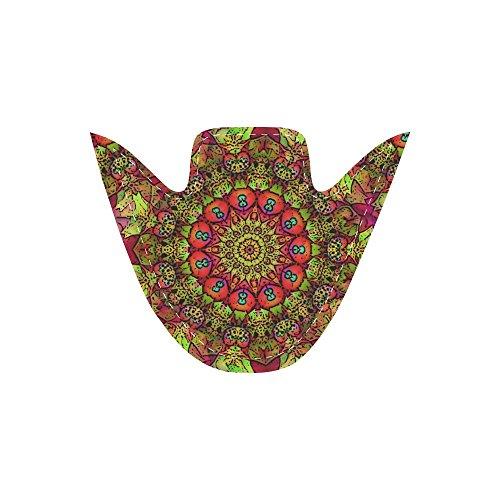 Interestprint Floral Slip På Canvas Sko For Kvinner Mandala Sol