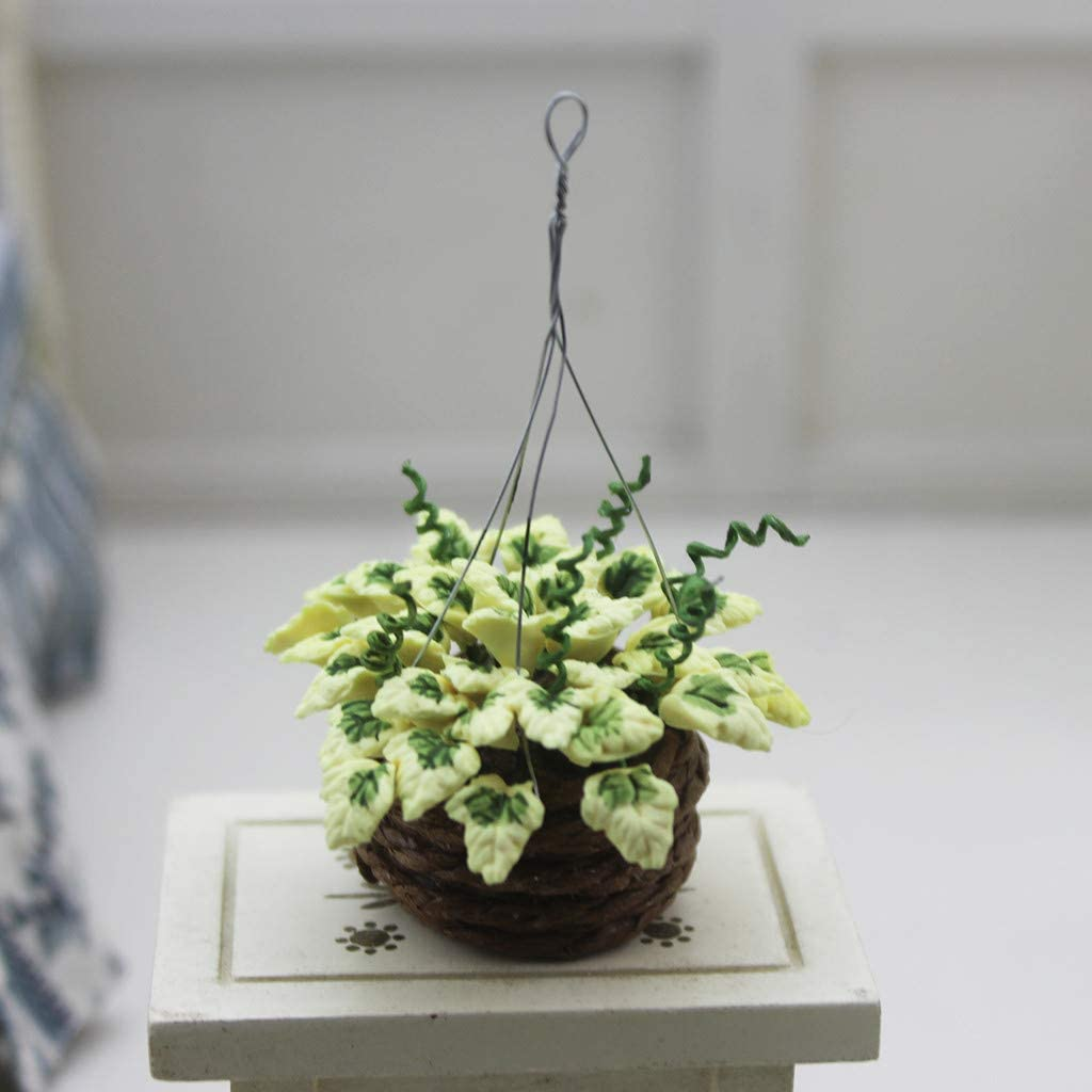 #B SGYH Simulation Mini Hanging Potted Plant Miniature Craft Scene Model for 1:12 //1:6 Scale Dollhouse Furniture Decorative Doll House Accessories
