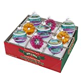 RADKO Shiny Brite Vintage Celebration Flowers & Rounds Ornaments 4026824