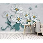 LIWALLPAPER-Carta-Da-Parati-3D-Fotomurali-Fiore-Pianta-Farfalla-Foglia-Verde-Camera-da-Letto-Decorazione-da-Muro-XXL-Poster-Design-Carta-per-pareti-200cmx140cm