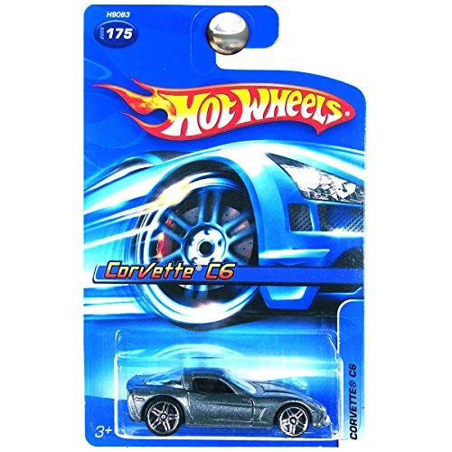 Hot Wheels 2005 Chevrolet Chevy Corvette C6 Charcoal Gray Grey Silver #175