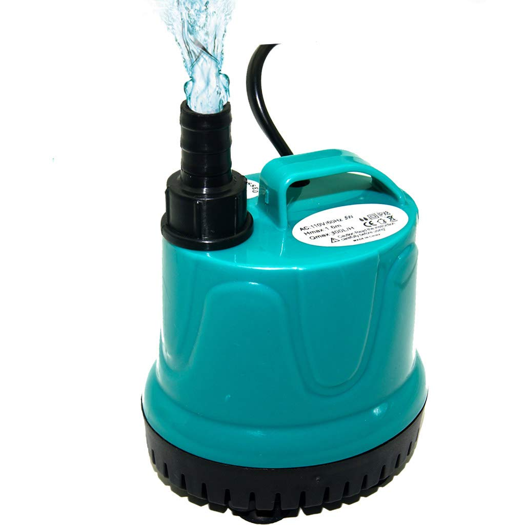 396GPH 40W Upettools Mutifuctional Submersible Pump, Ultra Silence Circulation Water Pump with Handle for Pond, Aquarium, Hydroponics, Fish Tank Fountain with 6.2ft (1.9M) Power Cord(330GPH,40W)