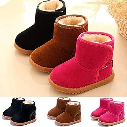 1b4348179fc Amazon.com  maket Kids Baby Winter Boots Soft Cotton Warm Shoes Ankle Boots  Chaussures Enfants Botas ATC-(Rose red