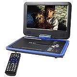 Buyee Handheld Portable DVD Player 9.5 Inch 270 Degree Swivel Screen (Blue)