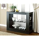 HOMES: Inside + Out ioHOMES Somerset Multi-Storage Dining Buffet Console Table, Black