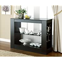 ioHOMES Somerset Multi-Storage Dining Buffet Console Table, Black