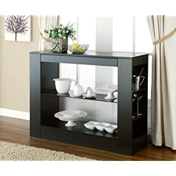 IoHOMES Somerset Multi Storage Dining Buffet Console Table, Black