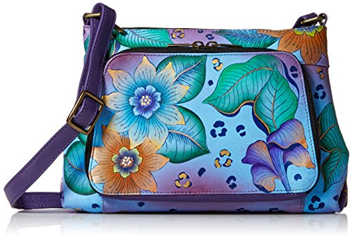 Leather Body Painted Safari Women'S Anna Organizer Cross Anuschka Hand Tropical nU6tYYf