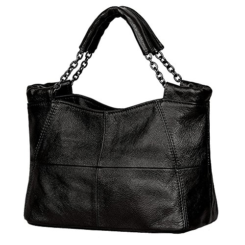 GESIMEI Womens Soft Leather Satchel Handbags Chain Handle Tote Purse Small Shoulder Bags (Soft Leather Satchel Handbag)