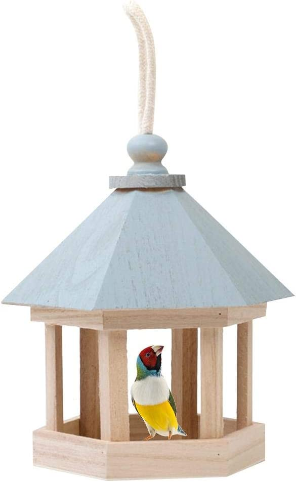 franktea Comedero para Pájaros, Dumpling Bird House Tiger Skin Pearl Parrot Birdhouse 15x15x20cm