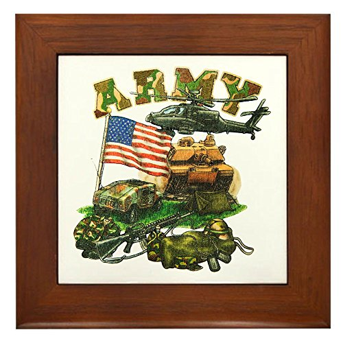 Framed Tile Camouflage US Army Helicopter Tank