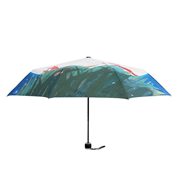 Amazon.com | Katoot@ Novelty Gifts Oil Painting Umbrella Three Fold paraguas Women Parasol Anti-uv Waterproof Rain Umbrellas The Little Prince | Umbrellas