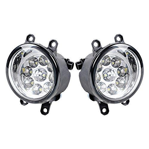 9 LED Front Fog Light Driving Lamp For Toyota RAV4 Camry Corolla Solora Yaris Avalon Highlander Matrix Venza Prius