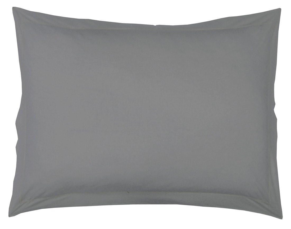 taie oreiller 50 x 70 cm unie noir charbon