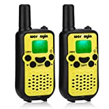 Westayin Walkie Talkie for Kids Adults-22 Channels UHF Portable 2 Way Radio-Baby Monitor-Best Birthday Gifts for Boys Girls-3 Mile Long Range Fit Outdoor Games-Set of 2 (Yellow)