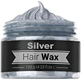 Temporary Silver Gray Hair Wax - 4.23 OZ Natural Cream - Quick and Clean Wash in Minutes, Easy To Apply For Men & Women.