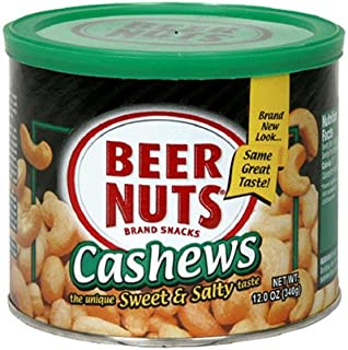 product image for BEER NUTS Cashews, 12-Ounce Cans (Pack of 3)