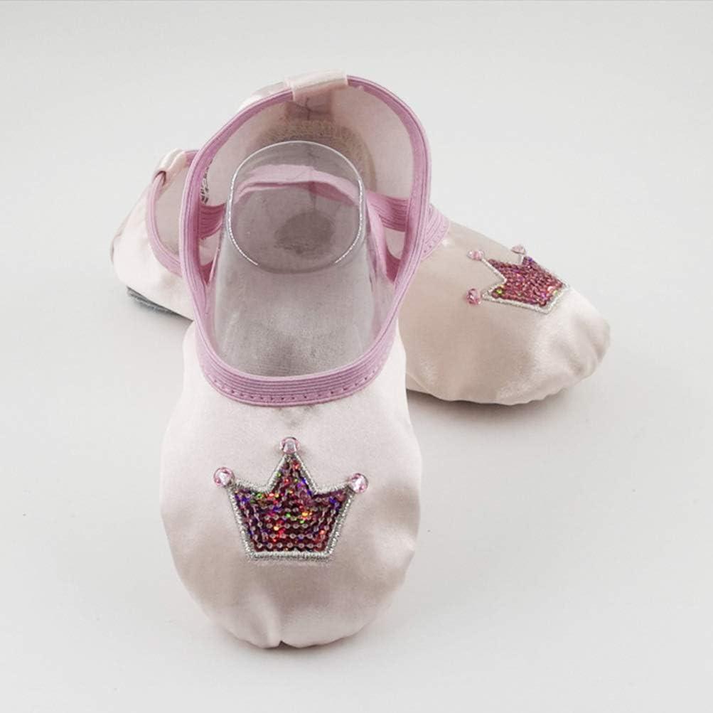 Holibanna Ballet Slipper Shoes Girls Dancing Yoga Soft Sole Flats for Children Girls Women Pink