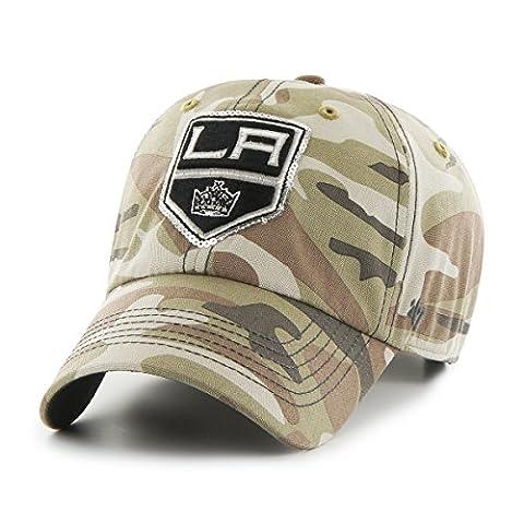 NHL Los Angeles Kings Women's Sparkle Camo Clean Up Hat, Women's, Faded Camo (Los Angeles Kings Hat 47)