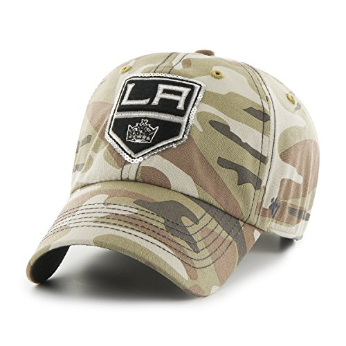Sparkle Camo ('47 NHL Los Angeles Kings Women's Sparkle Camo Clean Up Hat, Women's, Faded Camo)