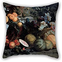 Bestseason Throw Cushion Covers Of Oil Painting Jan Roos - Still Life With Fruit And Vegetables 20 X 20 Inches / 50 By 50 Cm,best Fit For Home Theater,boy Friend,festival,father,gf,her Twin Sides