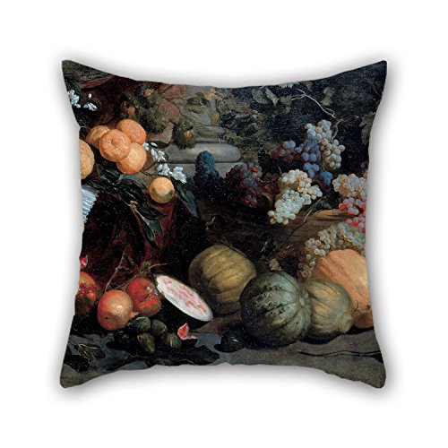 Artistdecor 16 X 16 Inches / 40 By 40 Cm Oil Painting Jan Roos - Still Life With Fruit And Vegetables Throw Pillow Case ,2 Sides Ornament And Gift To Couch,play Room,son,family,drawing Room,floor
