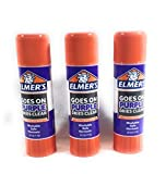 Office Products : Elmer's Disappearing Purple School Glue Sticks, 0.77 oz Each, 3 Sticks