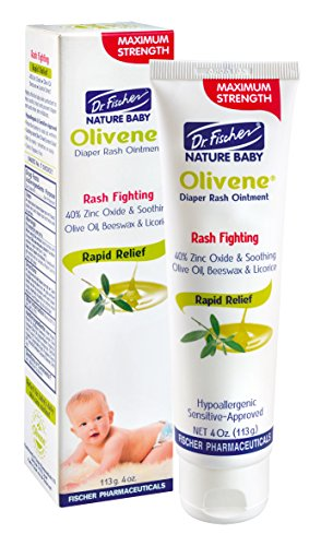 Olivene Baby Diaper Rash Ointment by Dr. Fischer- 113 gr/4 oz. - Clinically proven to be effective in reducing skin irritation, redness and recurrent rash symptoms. Exclusive Baby Rash Cream!