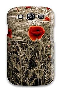 DavidMBernard Case Cover Protector Specially Made For Galaxy S3 Flower