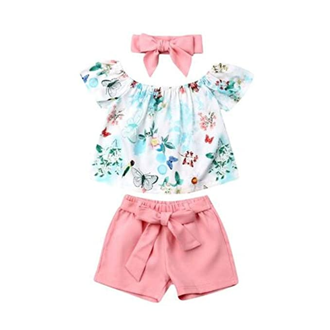 Wang-RX Recién Nacido, bebé, Ropa para bebés, Hombros, Top Floral ...