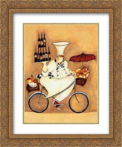 Wine Peddler 2X Matted 11x13 Gold Ornate Framed Art Print by Jennifer -