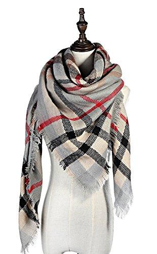 Lamamamas Plaid Blanket Scarf Cozy Tartan Wrap Shawl Scarfs for Women by Lamamamas